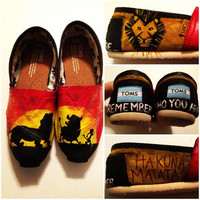 Custom Hand-Painted Lion King Toms Shoes (All Requests Accepted)