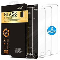 iPhone 6s Screen Protector,iPhone 6 Screen Protector,[3 Pack]by Ailun,Tempered Glass,9H Hardness&2.5D Edge,Bubble Free,Anti-Fingerprint,Oil Stain&Scratch Coating,Case Friendly,SIANIA Retail Package