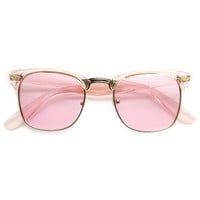 Eclectic Cute Pastel Pearl Color Half Frame Sunglasses 9430