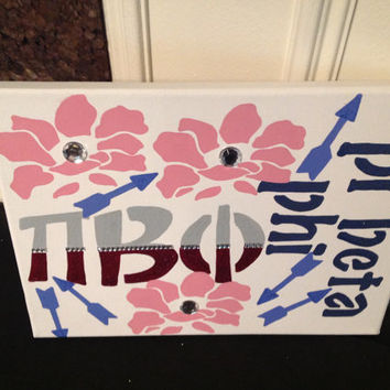 Pi Beta Phi Sorority Decorative Canvas Wall  Sign