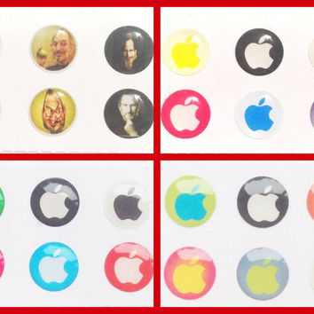 24x Apple Bubble Home Button Stickers for iPhone iPad 1 2 3 4 iPad Air Mini iPod Touch Nano iPhone6 iPhone5 iPhone4