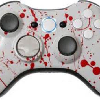 Blood Splatter Custom Painted Xbox 360 Controllers