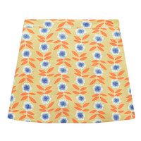 Elegant Flower Print Mini Skirt
