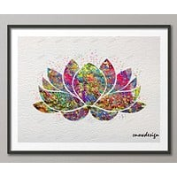 Lotus Flower Yoga Symbol watercolor wall art canvas painting Buddha poster print Pictures Home Decor wall hanging sticker gifts