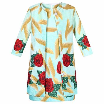 Children Clothing Girls Clothes Set Ensemble Costume for Kids Clothing Sets Flower Girls Jacket+Dress Outfits