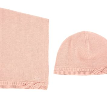 Chloe Baby Soft Pink Hat & Scarf