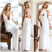 Sexy Women Summer Boho Long Maxi Evening Party Dress Beach Dresses Sundress = 4904897732