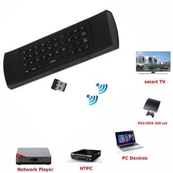 I-Deal TV 2.4G Remote Control Wireless Keyboard + Air Mouse + IR Remote Control For projectors, laptops, Android devices, TV Boxes, Mini PC Tablet