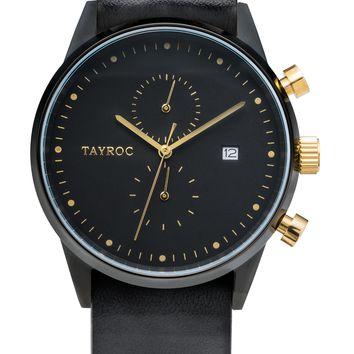 TXM087 - Black Leather NATO