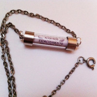 Supernatural Exorcism Spell Necklace - Horizontal Vial