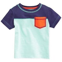 First Impressions Baby Boys' Striped Pocket Tee