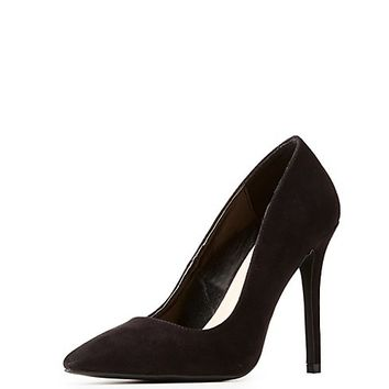 Faux Suede Pointed Toe Pumps | Charlotte Russe