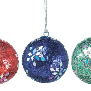 Holiday Dazzle Christmas Tree Ornament -Set of 3