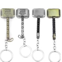 Kinds of Thor Hammer Keychain Metal Avengers Mjolnir Figure Pendant Key Chains Movie Accessory High Quality gift Free Shipping
