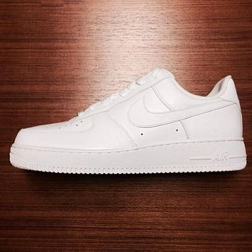 NIKE Air force White Women Men Running Sport Casual Shoes Sneakers