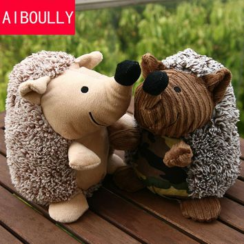 Dog Pet Puppy Plush Sound Dog Toys Pet Puppy Chew Squeaker Squeaky Plush Sound Hedgehog Sheep Dumb Pet Talking Toys Dog Cat Toy