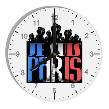 "Je Suis Paris - Strong 8"" Round Wall Clock with Numbers by TooLoud"