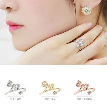 Stylish New Arrival Gift Jewelry Shiny Korean Lovely Butterfly Adjustable Accessory Ring [6586100999]