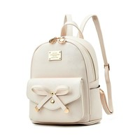 Fashion  women mini Backpack small PU Leather Backpacks