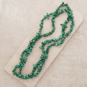 Malachite Gemstone Nugget Necklace