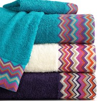 Bianca Bath Towels, Rainbow Chevron Collection