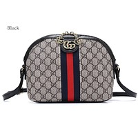 Gucci sells printed striped shopping bags with fashionable one-shoulder bags