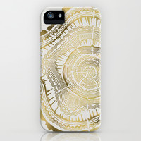 Gold Tree Rings iPhone & iPod Case by Cat Coquillette
