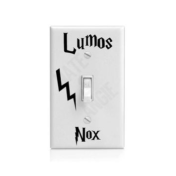 Lumos Nox Light Switch Decal / Sticker / Vinyl / Harry Potter / Magic - On - Off - Lumos - Nox / Car Decal / Sticker from Harry Potter