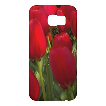 Red Tulips Floral Samsung Galaxy S6 Cases
