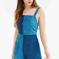 BDG Lilou Colorblock Denim Romper