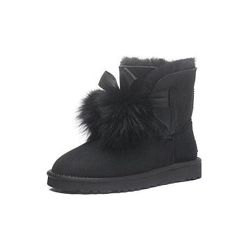UGG Limited Edition Classics Boots GITA Women Black Shoes 1018517