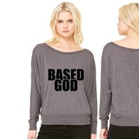 Based God women's long sleeve tee