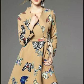 Butterfly Hi-Low Dress