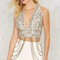Nasty Gal Heart of Stone Beaded Bra Top