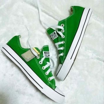 Converse All Star Sneakers canvas shoes for Unisex sports shoes low-top Green