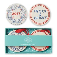 Holiday Stripes Ornament Set