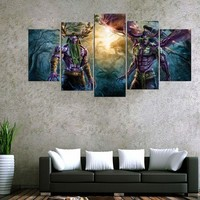 World Of Warcraft Game Wall Art on Canvas Poster Picture Canvas Print Home Decor