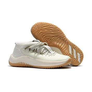 Adidas Lillard Dame 4 Ivory Basketball Shoes 70ef484d6