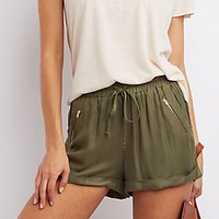 CUFFED DRAWSTRING SHORTS