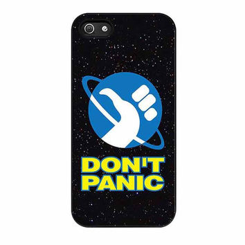 hitchhikers guide to the galaxy dont panic s5 cases for iphone se 5 5s 5c 4 4s 6 6s plus