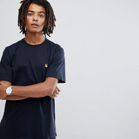 Carhartt WIP Chase T-Shirt In Navy at asos.com
