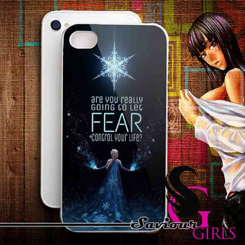Disney Frozen Quote for iPhone 4/4S, 5/5S, 5C and Samsung Galaxy S3, S4 - Rubber and Plastic Case