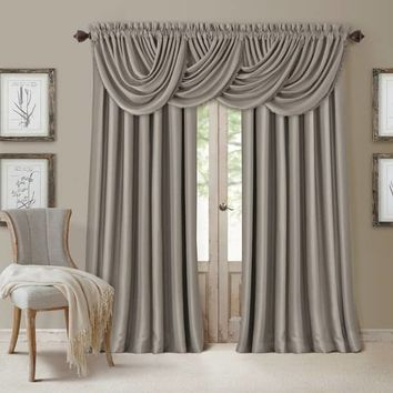 Elrene All Seasons Polyester Blend Waterfall Valance | Overstock.com Shopping - The Best Deals on Valances