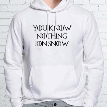 You Know Nothing Jon Snow Game of Thrones Unisex Hoodies - ZZ Hoodie