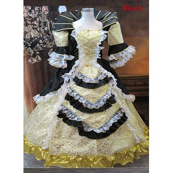Six Color Renaissance Gothic Victorian Dresses Ball Gowns Palace Marie Antoinette Dresses Costume For Women