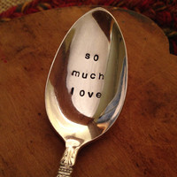 Hand Stamped Silver Baby Spoon, Commemorative Spoon, Vintage Spoon, Baby Gift, Shower Gift, Baby Shower Gift, Grandma Gift, Baby Spoon