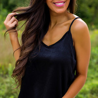 Black Satin Cami