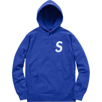 Supreme: S Logo Hooded Sweatshirt - Royal