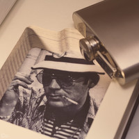 Hollow Book Safe & Whiskey Hip Flask - Gonzo (HUNTER S. THOMPSON)