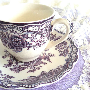 Vinage Bristol Crown Ducal Demitasse Tea Cup and Saucer/Made in England